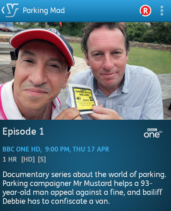 Parking Mad: episode 1 (YouView app screenshot)