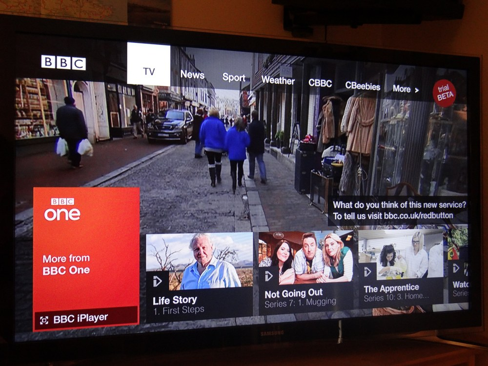 BBC connected red button - news