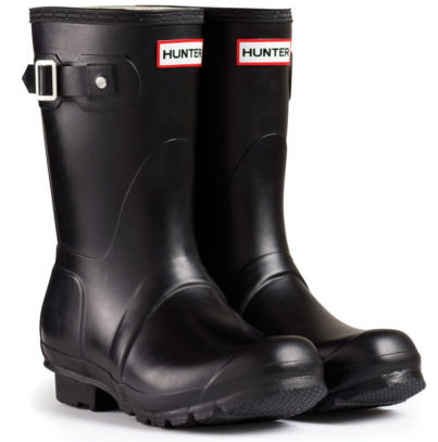 Hunter Mens Original Short Wellington Boots - Black