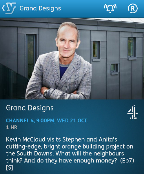 Grand Designs - 21-10-2015 - YouView app