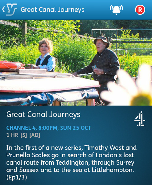 Great Canal Journeys - 25-10-2015 - YouView app
