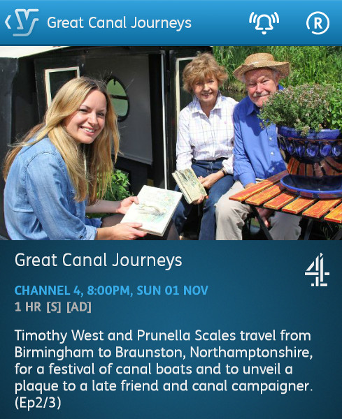 Great Canal Journeys - 31-11-2015 - YouView app