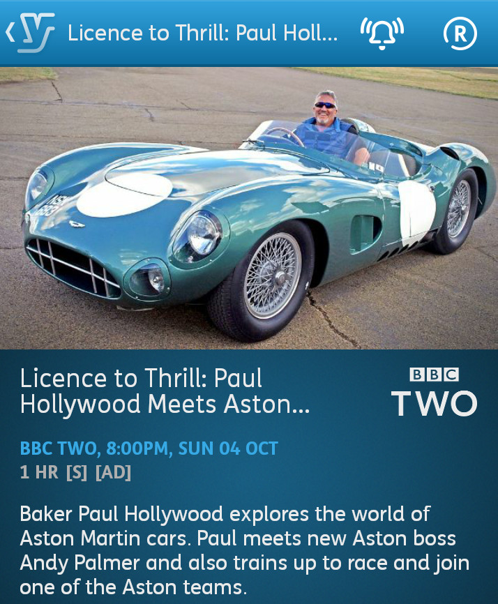 Licence to Thrill Paul Hollywood Meets Aston Martin - 04-10-2015 - YouView app