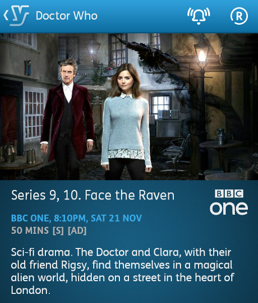 Doctor Who - 21/11/2015 (YouView app)