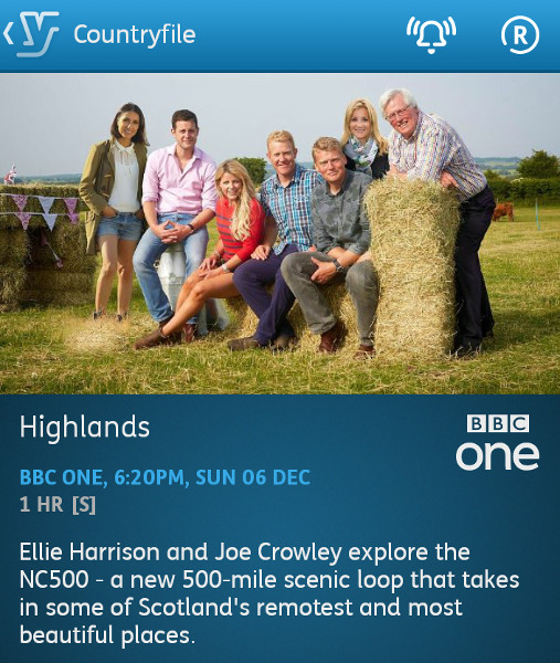 Countryfile - 06-12-2015 - YouView app