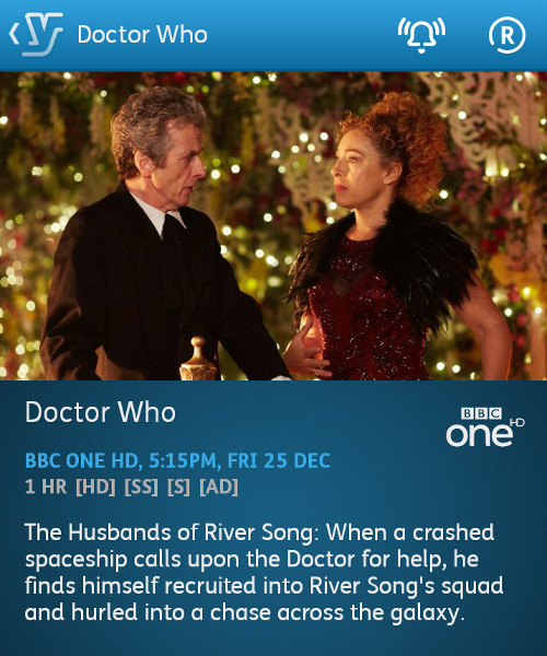Doctor Who - 25-12-2015 - YouView app
