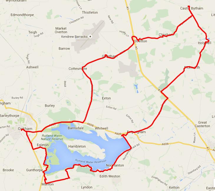 18-02-2016 - bike ride route