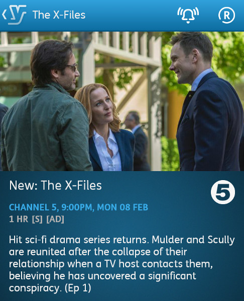 The X Files - 08-02-2016 - YouView app