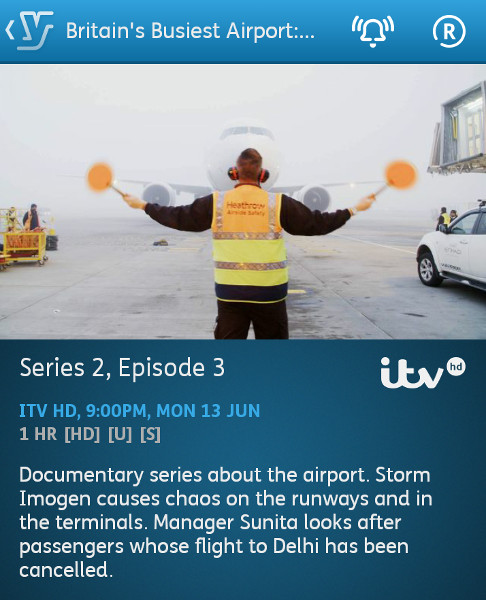 Britain's Busiest Airport - Heathrow - 13-06-2016 - YouView app