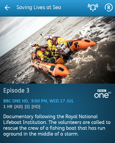 Saving Lives at Sea - 27-07-2016 - YouView app