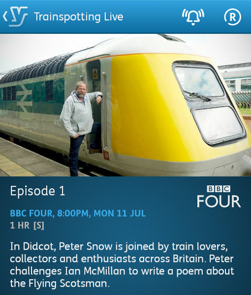 Trainspotting Live - 11-07-2016 - YouView app