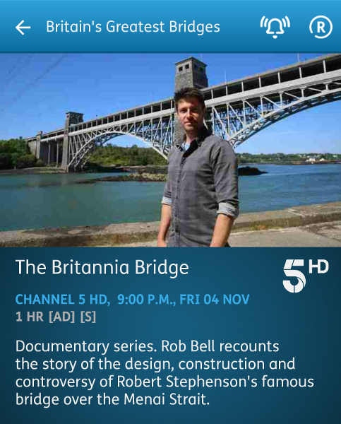 Britain's Greatest Bridges - 04-11-2016 - YouView app