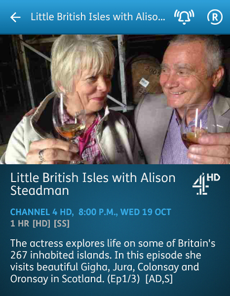 Little British Isles with Alison Steadman - 19-10-2016 - YouView app