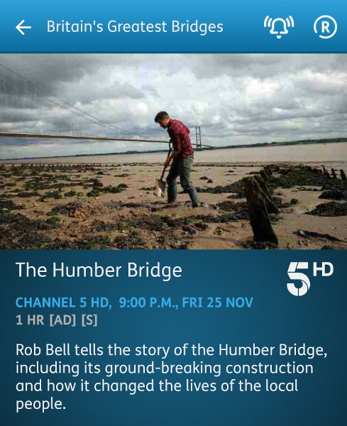Britain's Greatest Bridges - 25-11-2016 - YouView app