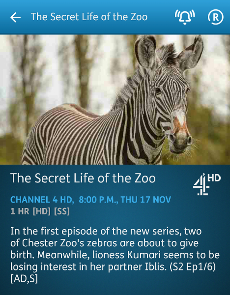 The Secret Life of the Zoo - 17-11-2016 - YouView app