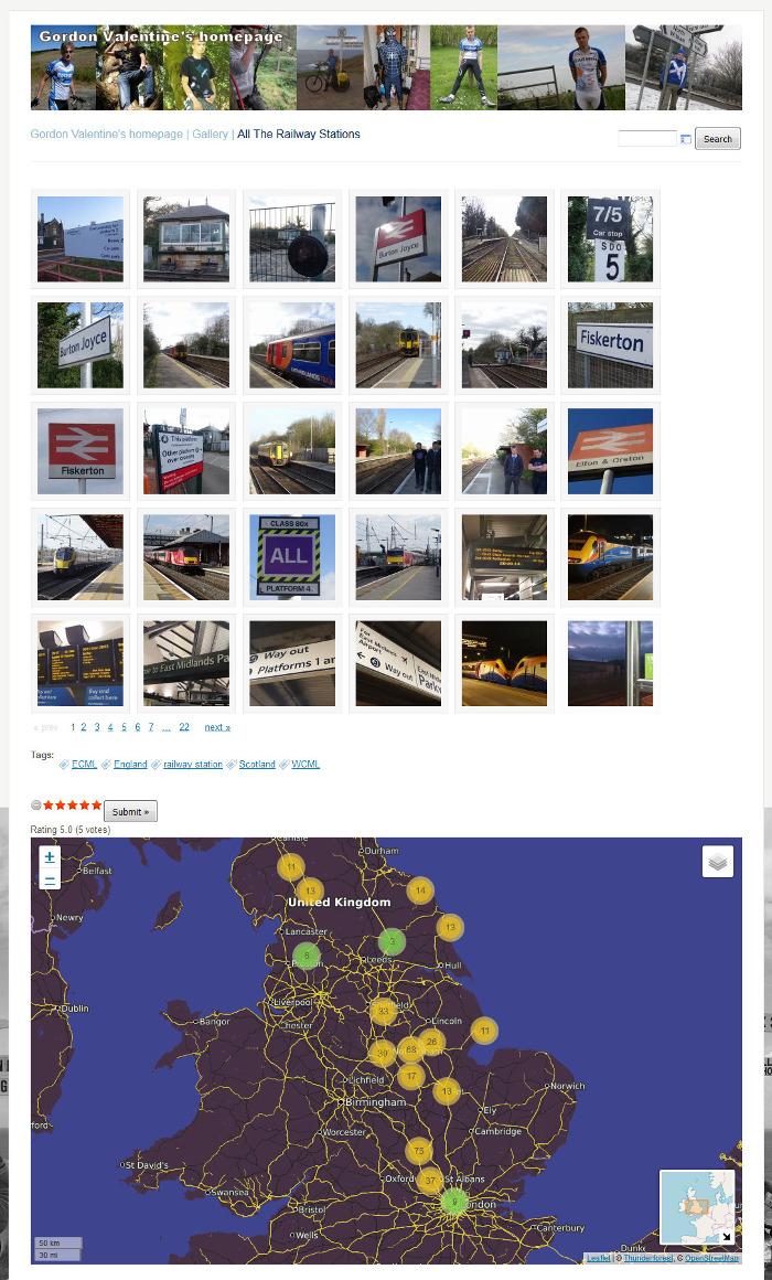 Railway stations visited map : 05-Apr-2019 – Gordon