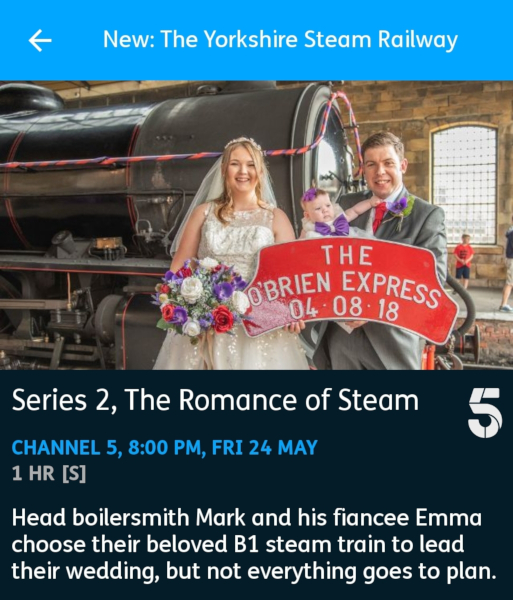 The Yorkshire Steam Railway: All Aboard - 24-05-2019 - YouView app