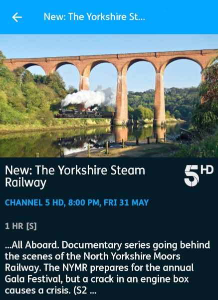 The Yorkshire Steam Railway: All Aboard  - 31-04-2019 - YouView app