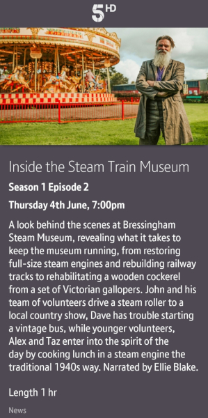 Inside the Steam Train Museum - 04/06/2020 BT TV app