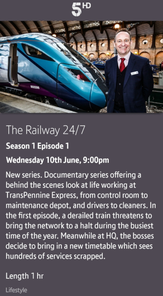 The Railway 24/7 - 09/06/2020 BT TV app
