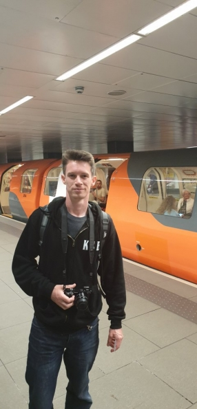 Nick at St Enoch subway station