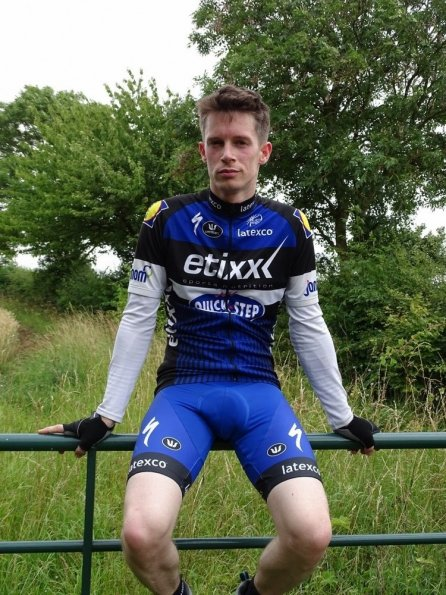 Nick wearing Vermarc Etixx Quick-Step Cycling Team kit