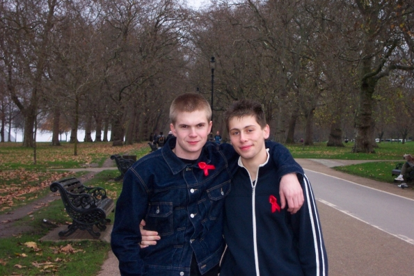 David and myself in Hyde Park