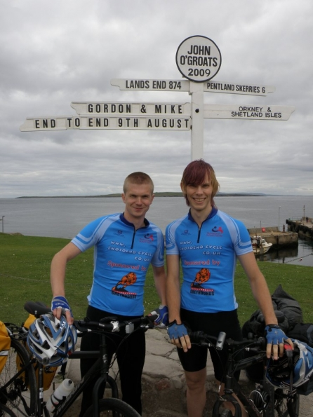 Mike and myself getting our photo taken at the start of the End to End cycle