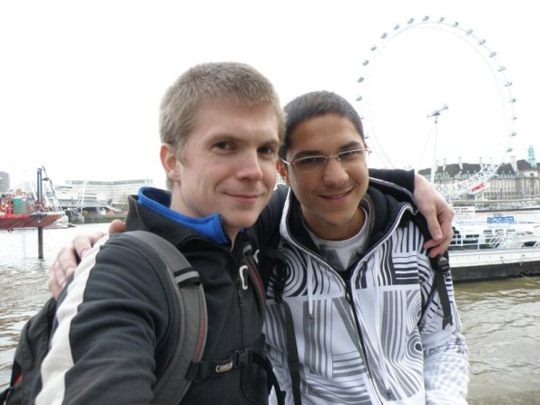 Liad and myself in London