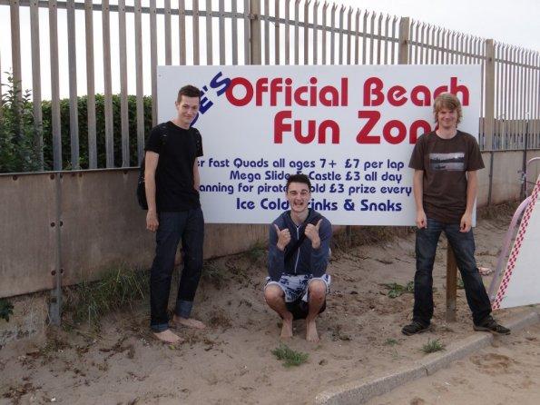 Richard, Adam and myself at Skegness