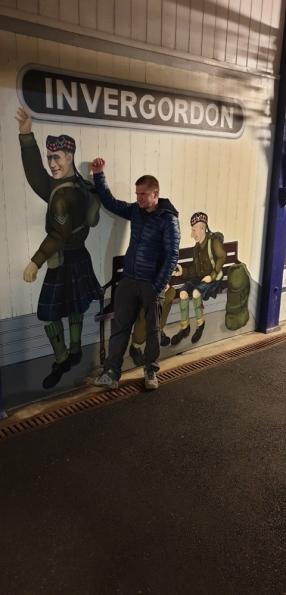 Myself at Invergordon railway station