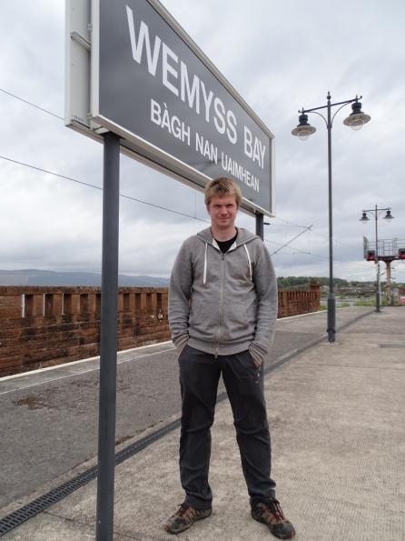 Myself at Wemyss Bay railway station