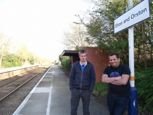 Mark T and myself Elton and Orston railway station