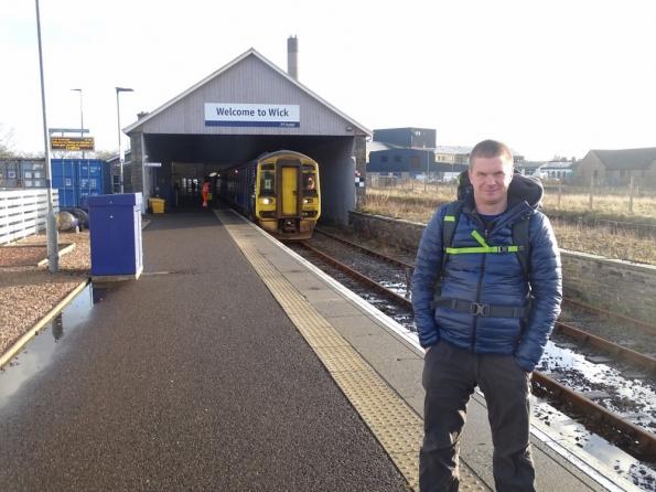 Myself at Wick railway station