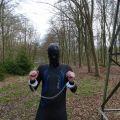 Regulation custom rubber hood and Clejuso handcuffs