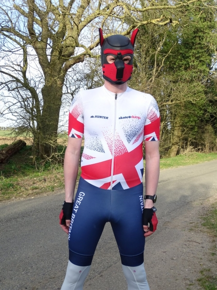 Hunter inline skinsuit Team Britain 2018 and Neoprene Pup Hood