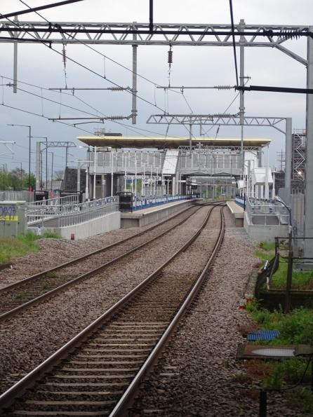 Angel Road railway station looking forward Meridian Water railway station