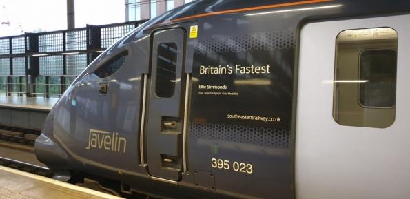 Class 395 at St Pancras railway station
