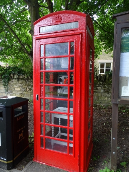 Red telephone box at Greatford