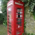 Red telephone box at Market Overton
