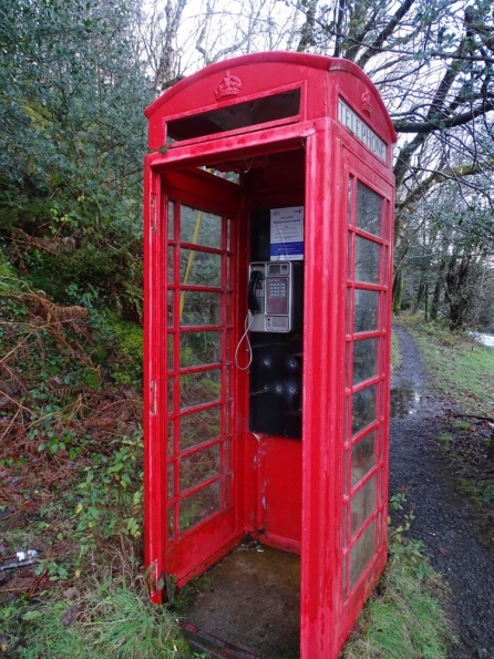 Red telephone box at Rowardennan