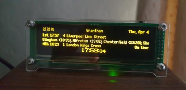 Desktop departure board