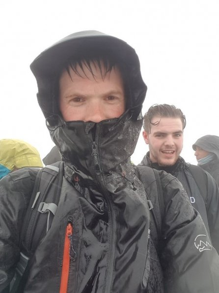 Snowdon Summit with Shaun